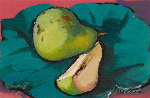 nature morte avec poires by maurice barraud