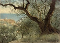 view of bordighera, italy by thomas bowman garvie