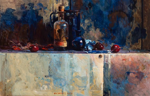 still life with three cherries by ben barend jan snyders