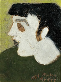 pale profile by milton avery