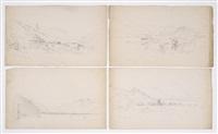 european views (4 works) by benjamin champney