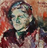 portrait of the author christian rimestad (1878-1943) by ludvig peter karsten