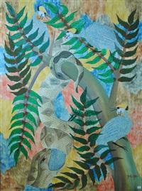 serpent et pintades by mulongoy pili pili
