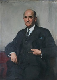 portrait of bryce meredith hanmer by frank thomas copnall