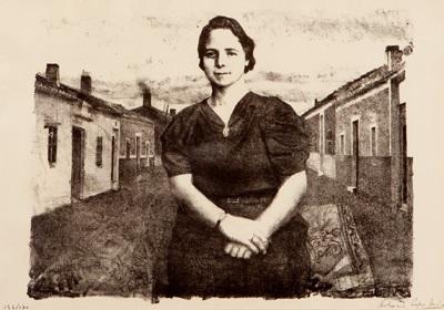 la madre ante casas de pueblo by antonio lópez garcía