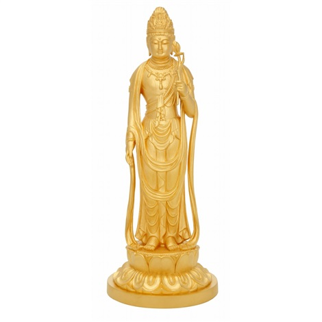 pure gold figure of guanyin by kiun funatani