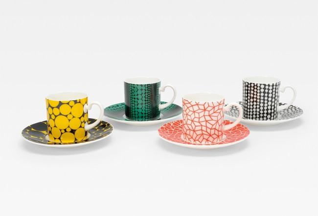 コーヒーセット set of 4 by yayoi kusama