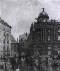 hofburg, michaelertor im regen by carl gödl