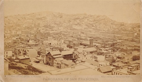 panorama of san francisco from california street hill by eadweard muybridge