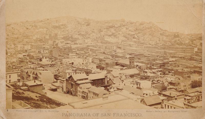 panorama of san francisco from california street hill by eadweard muybridge