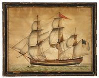 portrait of the ship delaware of philadelphia by american school (18)
