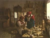 in der werkstatt des holzschnitzers by vida gábor