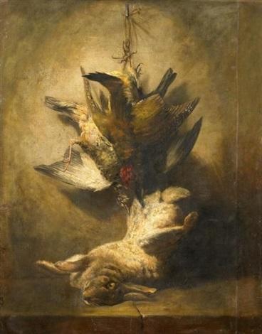 jagdstillleben mit vögeln und einem hasen by jean baptiste siméon chardin