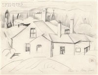 maine landscape by william zorach