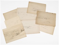 sketches (8 works) by benjamin champney