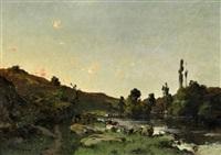 wäscherinnen am fluss by leon germain pelouse
