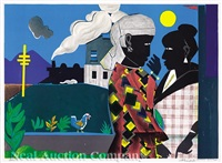 conversation by romare bearden