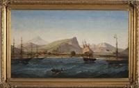 view of the treaty port of takow on the island of formosa (taiwan) by joseph w. pierce