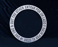 in one end (entrar por un lado) (in 3 parts) by lawrence weiner