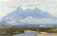 mountain landscapes (pair) by george drummond fish