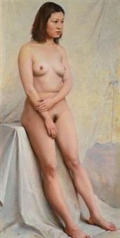 站着的女人体 (standing nude) by xu mangyao