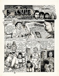 the who, planche 1 (for album pop & rock et colégram) by gotlib and sole