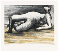 reclining nude by henry moore