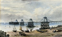 the old chain pier, brighton by william henry earp