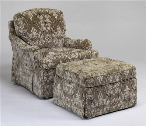 Admirable Baker Furniture Armchair And Ottoman By Baker Furniture Ibusinesslaw Wood Chair Design Ideas Ibusinesslaworg