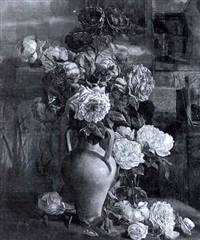 nature morte au bouquet de fleurs by e. di monzo