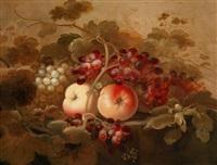 früchtestillleben mit trauben, rosinen und nüssen by roelof koets the elder