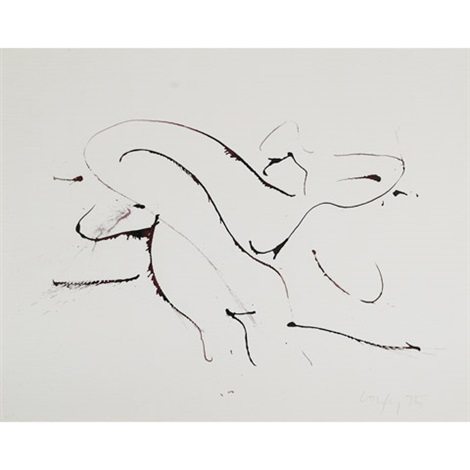 study - reclining form by john graham coughtry
