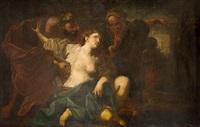 susana y los viejos; lote y sus hijas (2 works) by andrea vaccaro