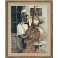 bass player by rolland harve golden