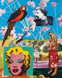 向大师致敬——高更永远的快乐家园 (salute to masters- gauguin forever home) by wang xiangming