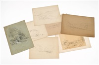 mountain views (7 works) by benjamin champney