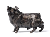 josé maria david (b.1944)<br>french<br>standing pig<br>signed, stamped