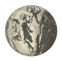 dies (from the creation of the world) (after hendrick goltzius) by herman jansz muller