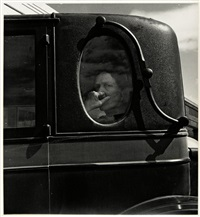funeral cortège end of an era in a small valley town by dorothea lange