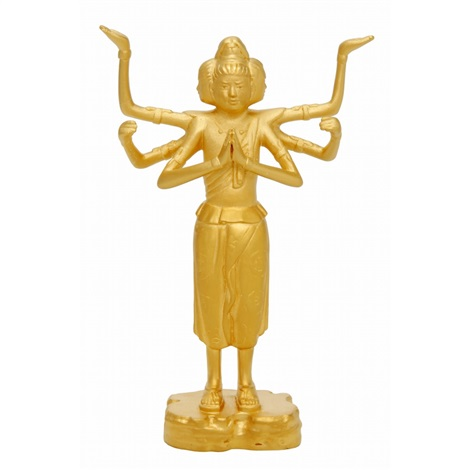 pure gold figure of asura