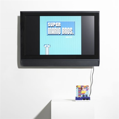 super mario movie collab w paper rad by cory arcangel