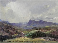 view of langdale pikes, westmorland by vernon ward