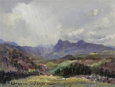 view of langdale pikes westmorland by vernon ward