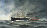 the collision of the north german lloyd liner elbe with the s.s. crathie by john fannen