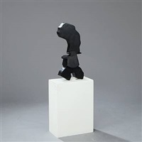 sort skulptur med hat (black with hat) by egon fischer