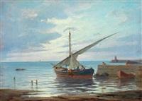 barche all'ormeggio by renuccio renucci