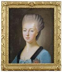 portrait der amalie friederike markgräfin von baden (+ portrait der luise großherzogin von weimar; 2 works) by anton graff