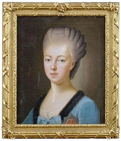 portrait der amalie friederike markgräfin von baden portrait der luise großherzogin von weimar 2 works by anton graff