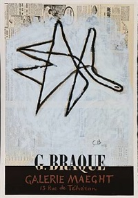 exhibition poster from galerie maeght by georges braque