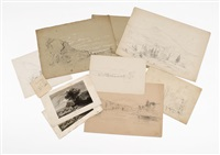 sketches (7 works) by benjamin champney